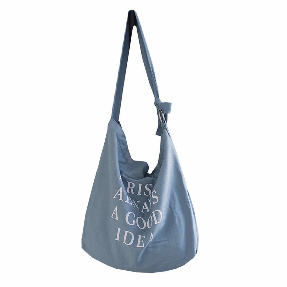 ショルダバッグ トートバッグ 大容量 英字柄 A4サイズ十分 通勤通学 帆布