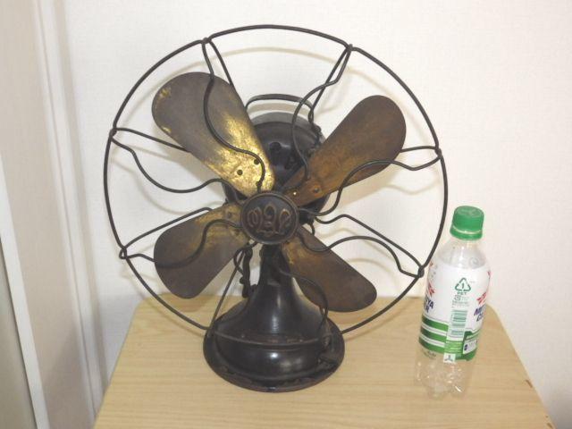 ◆戦前 芝浦電気(東芝) 扇風機 真鍮4枚羽根30cm 2031 重量7.2kg 鉄製ボディ◆ジャンク