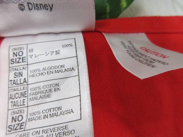 エ131 ディズニーランド ミッキーマウス エプロン レッド×ブラック・綿100%_画像4