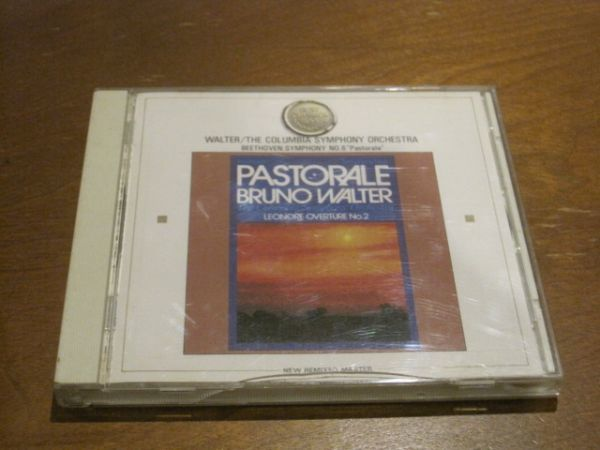 国内盤帯有CD ベートーヴェン 交響曲第6番ヘ長調作品68 田園 ブルーノ・ワルター指揮 コロンビア交響楽団 序曲 レオノーレ第2番_画像1