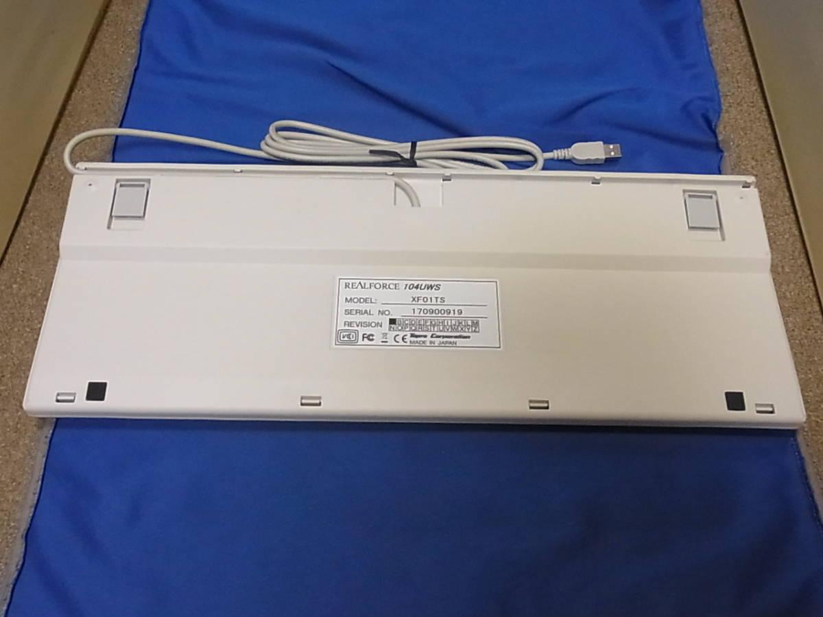 東プレ REALFORCE 104UWS ホワイト XF01TS 展示処分品 _画像3