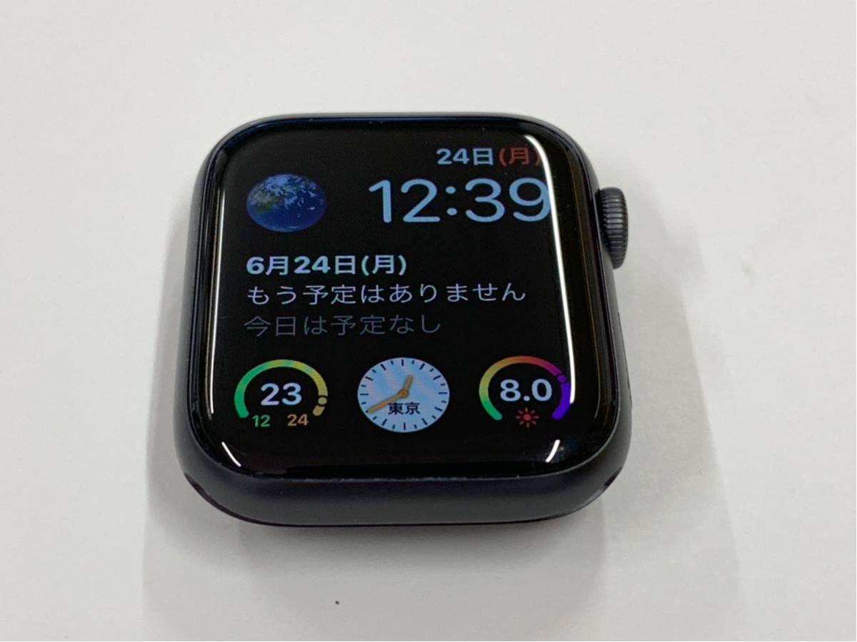 【美品】 Apple watch 44mm GPSモデル Series4 スペースグレイ アルミニウム アップルウォッチ スポーツループ 純正 Applewatch 送料無料_画像4