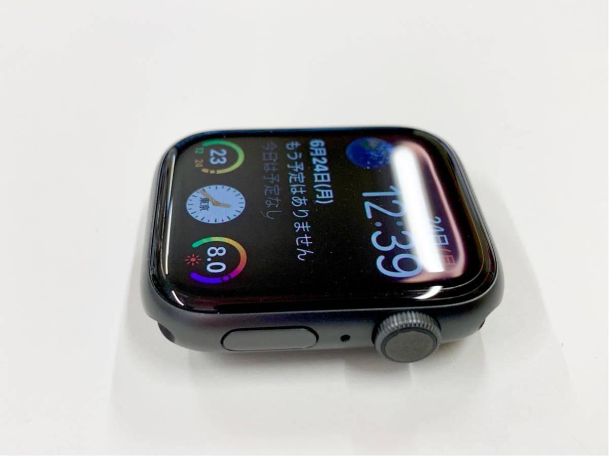 【美品】 Apple watch 44mm GPSモデル Series4 スペースグレイ アルミニウム アップルウォッチ スポーツループ 純正 Applewatch 送料無料_画像2