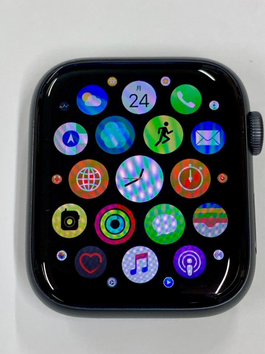 【美品】 Apple watch 44mm GPSモデル Series4 スペースグレイ アルミニウム アップルウォッチ スポーツループ 純正 Applewatch 送料無料_画像6