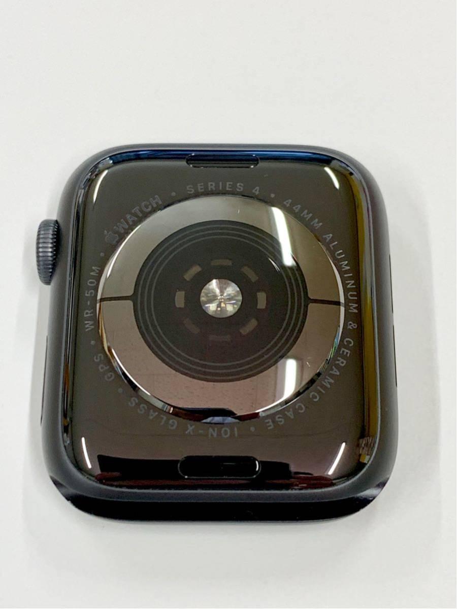 【美品】 Apple watch 44mm GPSモデル Series4 スペースグレイ アルミニウム アップルウォッチ スポーツループ 純正 Applewatch 送料無料_画像5