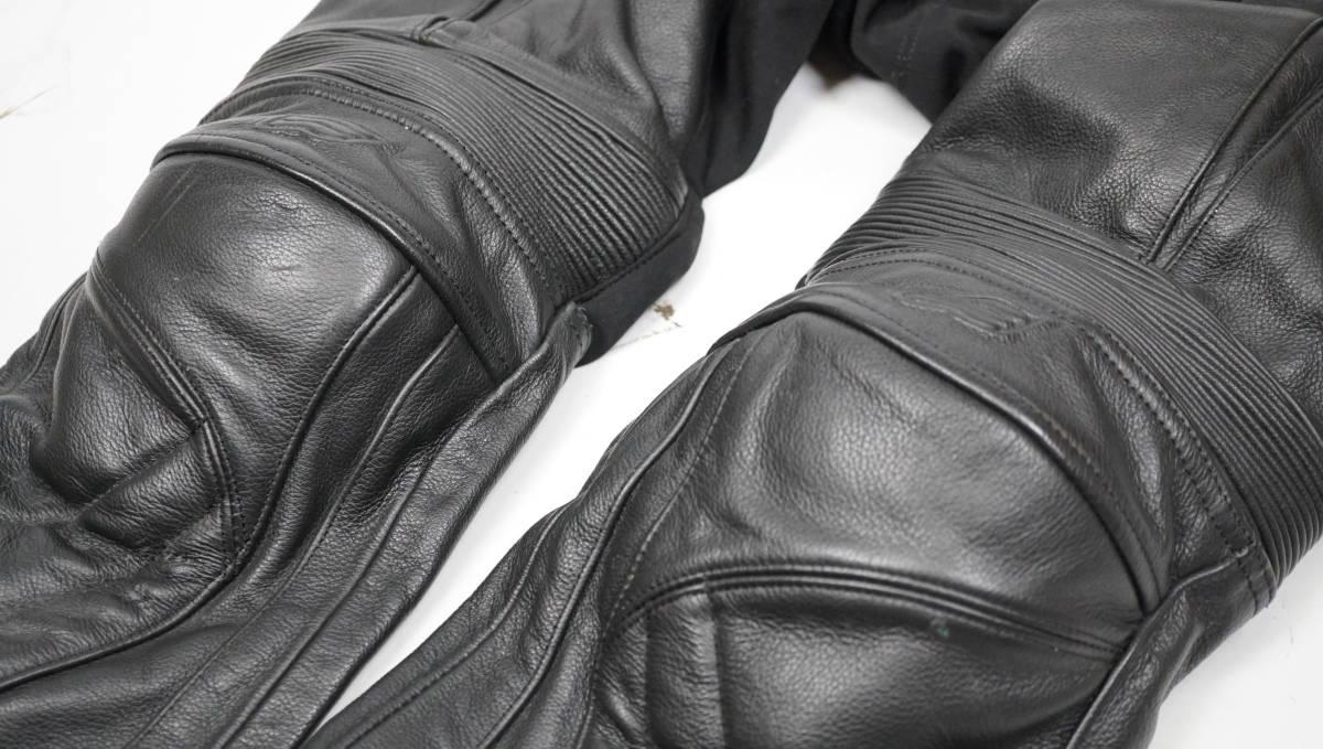 ★送料無料★美品★希少サイズMw2★HYOD★本革レザーライディングパンツ★膝腰プロテクター_画像3