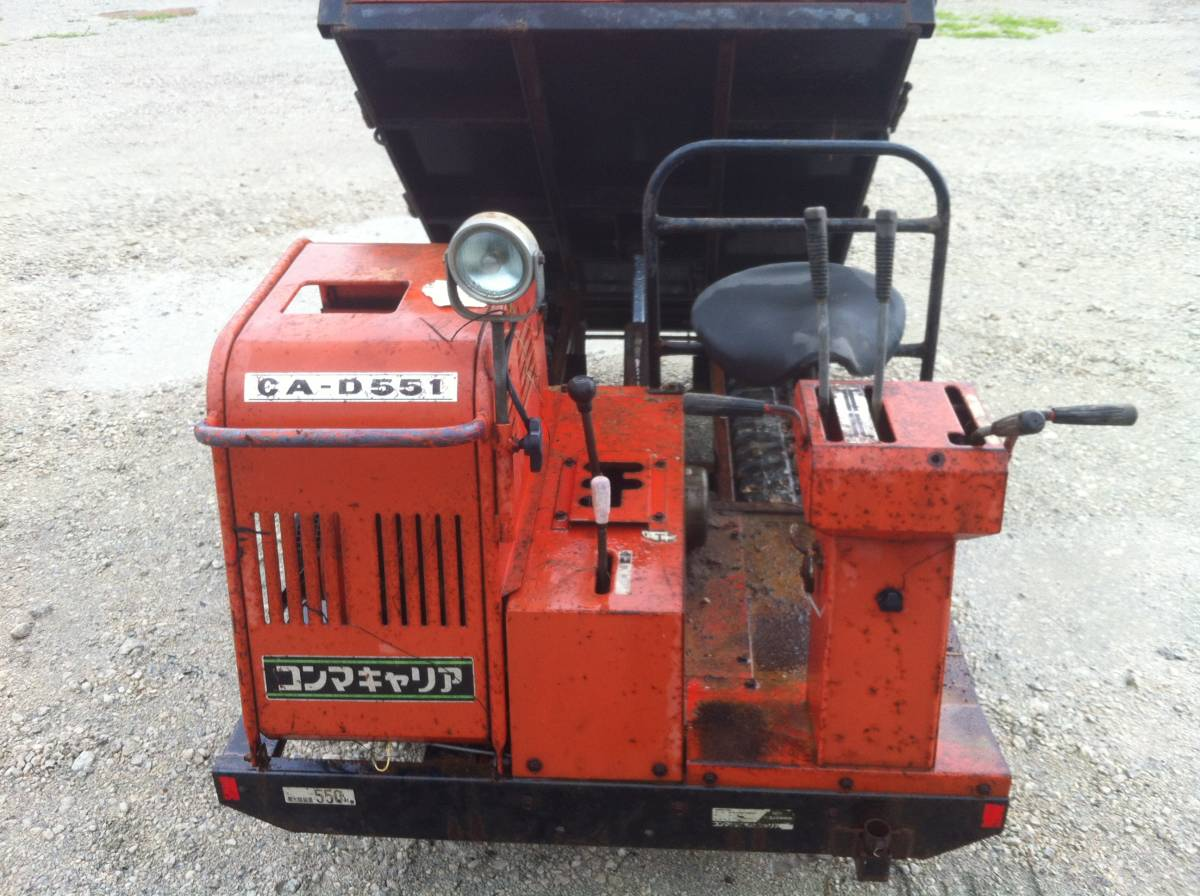 コンマキャリア中古実働品運搬車 油圧式 ダンプ_画像2