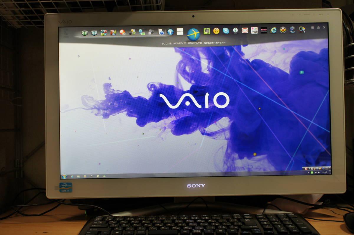 ソニー VAIO L SVL24118FJWI Core i7 4GB 1TB すぐツクTV 3波地デジ Wチューナー ブルーレイ Windows10 リカバリー領域あり 1円スタート_画像10