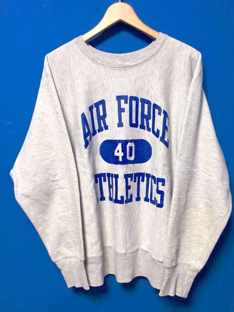 80's チャンピオン/Champion リバースウィーヴ Air Force L トリコタグ★ビンテージ スウェット 霜降り 2トーン 60's 70's 90's ミリタリー