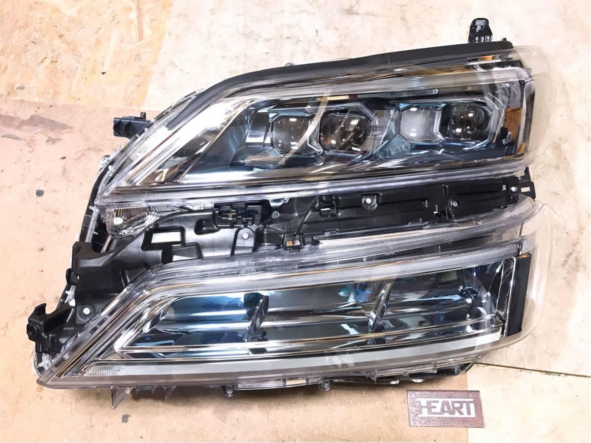即決 極美品 現行 ヴェルファイア 30系 後期 左ヘッドライト 2眼 LED 左ライト ICHIKOH 58-94 ム 81150-58570 / 81185-58570 破損無し