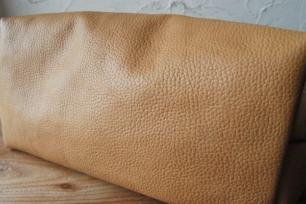 ハンドメイド 男女兼用 レザーバッグ 革 極厚型押しハンドル 太番手ステッチ トートバッグ 柔らかい 0702 Camel_画像3