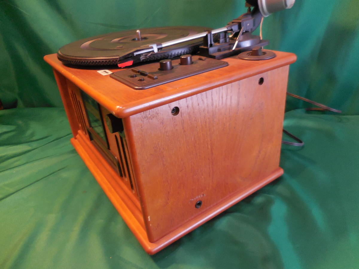 COLUMBIA コロンビア GP-610 蓄音機型 CD/ラジオ プレイヤー 作動確認済 サファイヤア針 SJN-75 6個付_画像6