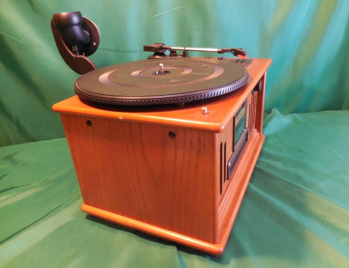 COLUMBIA コロンビア GP-610 蓄音機型 CD/ラジオ プレイヤー 作動確認済 サファイヤア針 SJN-75 6個付_画像7