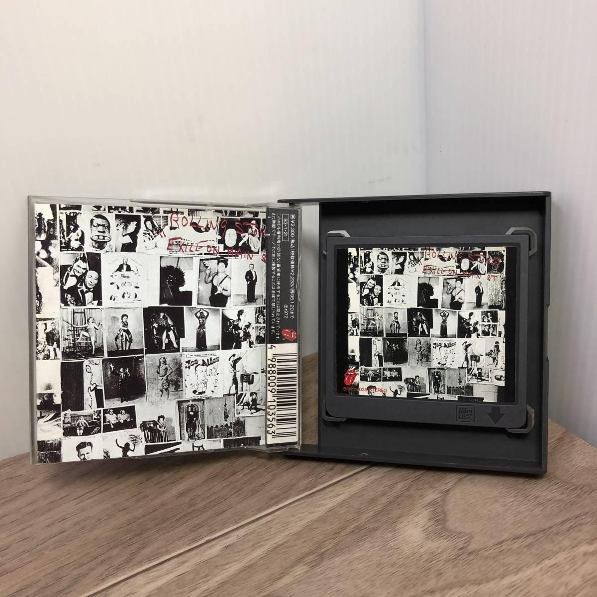 中古◇ 廃盤 MD The Rolling Stones ローリング・ストーンズ 「EXILE ON MAIN ST.」 レア Mini Disc ◇クリックポスト _画像3