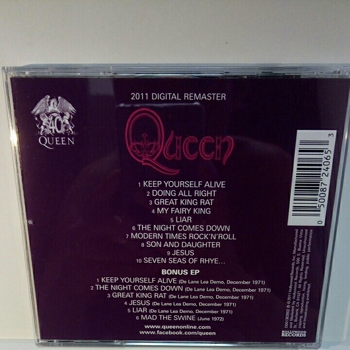 QUEEN「QUEEN」'11 DIGITAL REMASTER 2CD HOLLYWOOD盤 クイーン_画像2
