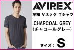 new goods AVIREX Avirex short sleeves V neck T-shirt S charcoal gray Avirex DAILY S/S V-NECK T-SHIRT half ..CHARCOL