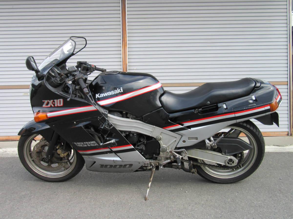 「KAWASAKI ZX-10 レストアベース ヨシムラマフラー付 エンジン始動可 カワサキ ZXT00B 平成1年登録 補修ベース ZX10」の画像2