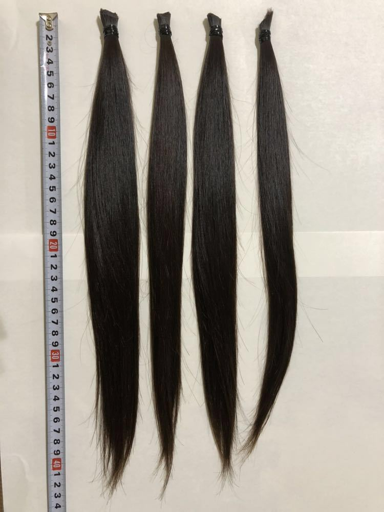 【髪束】日本人★11歳女の子★サラツヤストレートヘア【42cm94g】_画像4