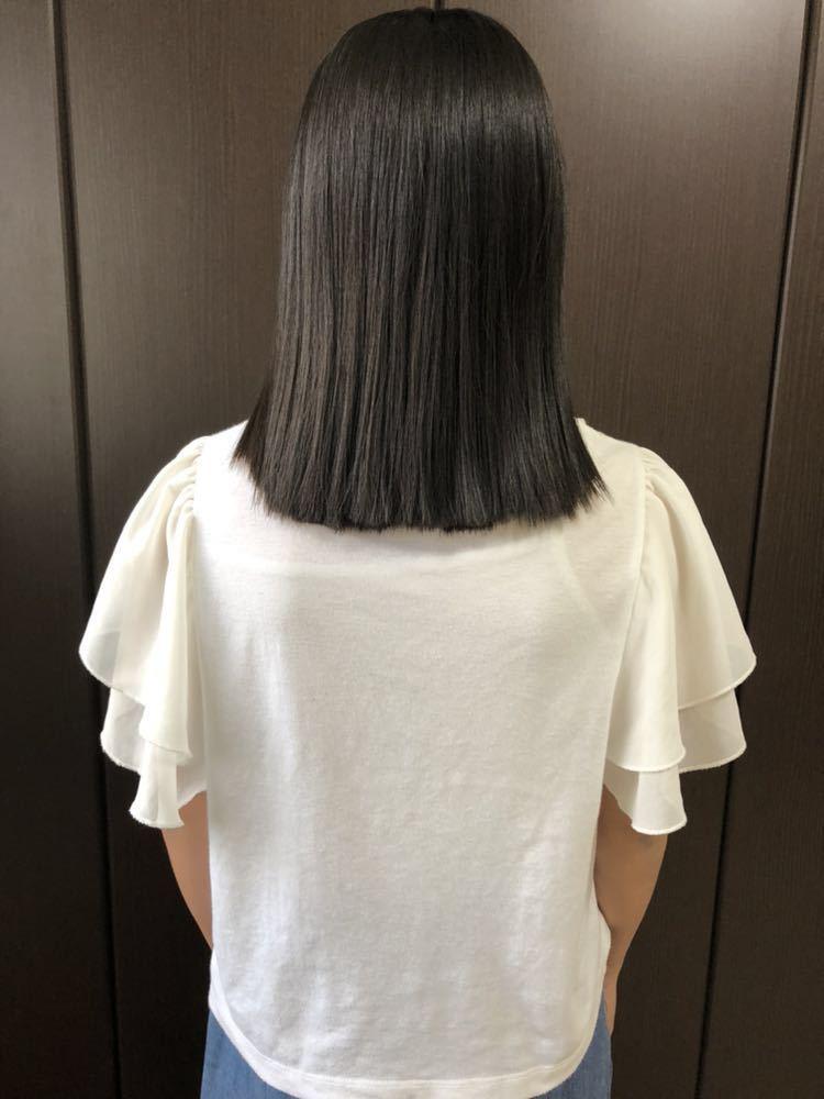 【髪束】日本人★11歳女の子★サラツヤストレートヘア【42cm94g】_画像5