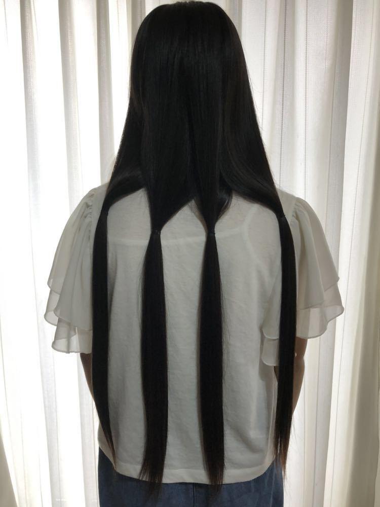 【髪束】日本人★11歳女の子★サラツヤストレートヘア【42cm94g】_画像2