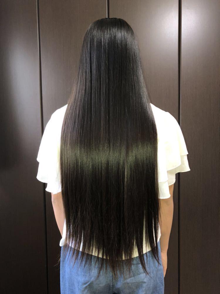 【髪束】日本人★11歳女の子★サラツヤストレートヘア【42cm94g】