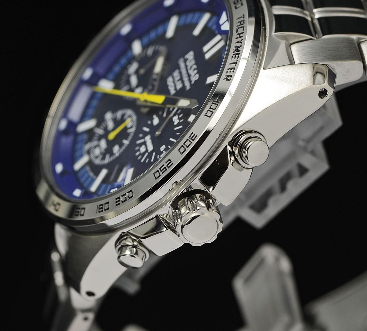【ソーラー】セイコーPULSAR世界ラリー選手権WRCモデル逆輸入100m防水クロノグラフ腕時計メンズ新品未使用PZ5001X1激レア日本未発売_画像9