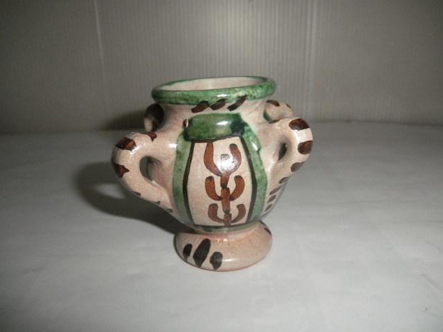 スペイン  Domingo punter( ドミンゴ パンター)ミニ壷 ツボ アンティーク コレクション レトロ インテリア 雑貨 陶器 西洋陶器_画像1