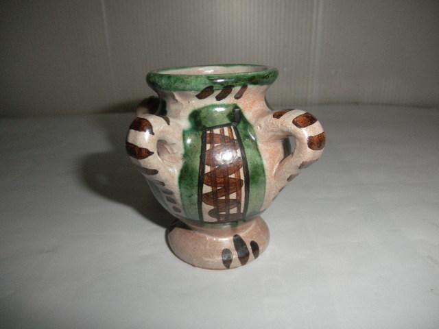 スペイン  Domingo punter( ドミンゴ パンター)ミニ壷 ツボ アンティーク コレクション レトロ インテリア 雑貨 陶器 西洋陶器_画像2