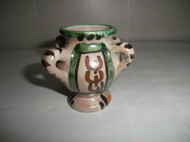 スペイン  Domingo punter( ドミンゴ パンター)ミニ壷 ツボ アンティーク コレクション レトロ インテリア 雑貨 陶器 西洋陶器_画像3