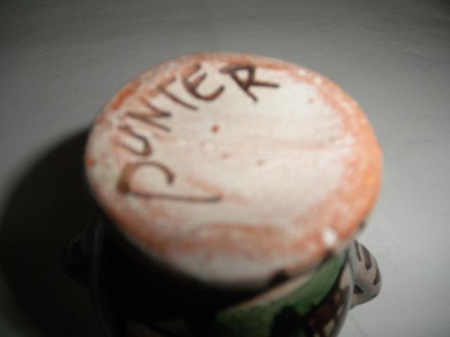 スペイン  Domingo punter( ドミンゴ パンター)ミニ壷 ツボ アンティーク コレクション レトロ インテリア 雑貨 陶器 西洋陶器_画像7