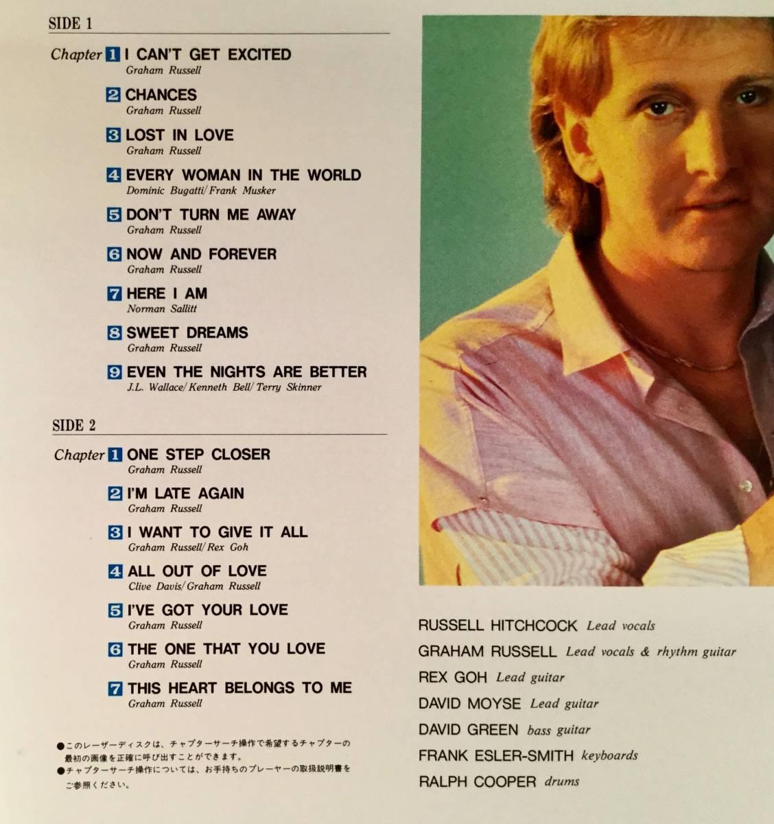 LD(レーザー)■エア・サプライ/イン・ハワイ~1982年コンサート■美品!_画像3