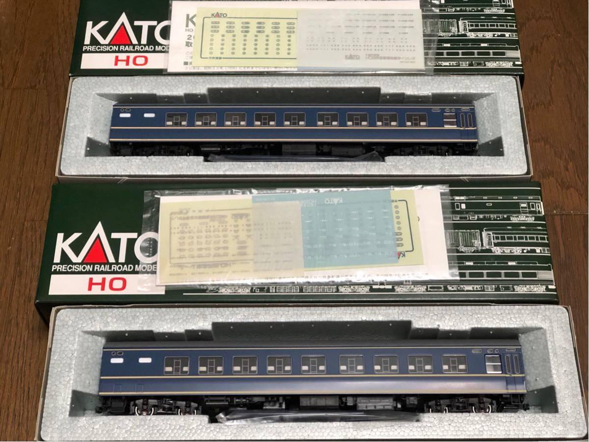 KATO カトー HOゲージ 1/80 16.5mm 国鉄20系客車 ナハネ20×2両 1-519 2002年版 未使用新品_画像3