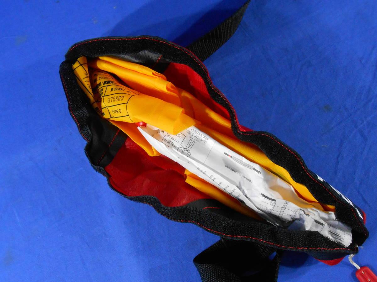 自動膨張式 フローティングライフベルト EXE-2722 軽量自動膨張式 検定付 腰巻タイプ ボンベ未使用_画像5