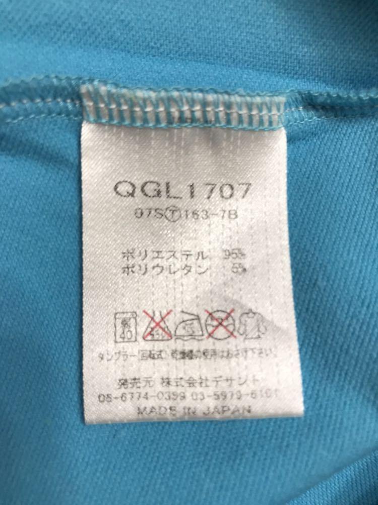 le coq sportif golfルコック レディース ゴルフ ウェア ドライポロシャツ サイズS 半袖 ライトブルー デサントQGL1707_画像10