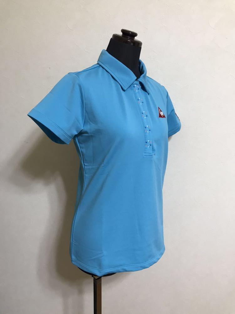 le coq sportif golfルコック レディース ゴルフ ウェア ドライポロシャツ サイズS 半袖 ライトブルー デサントQGL1707_画像8