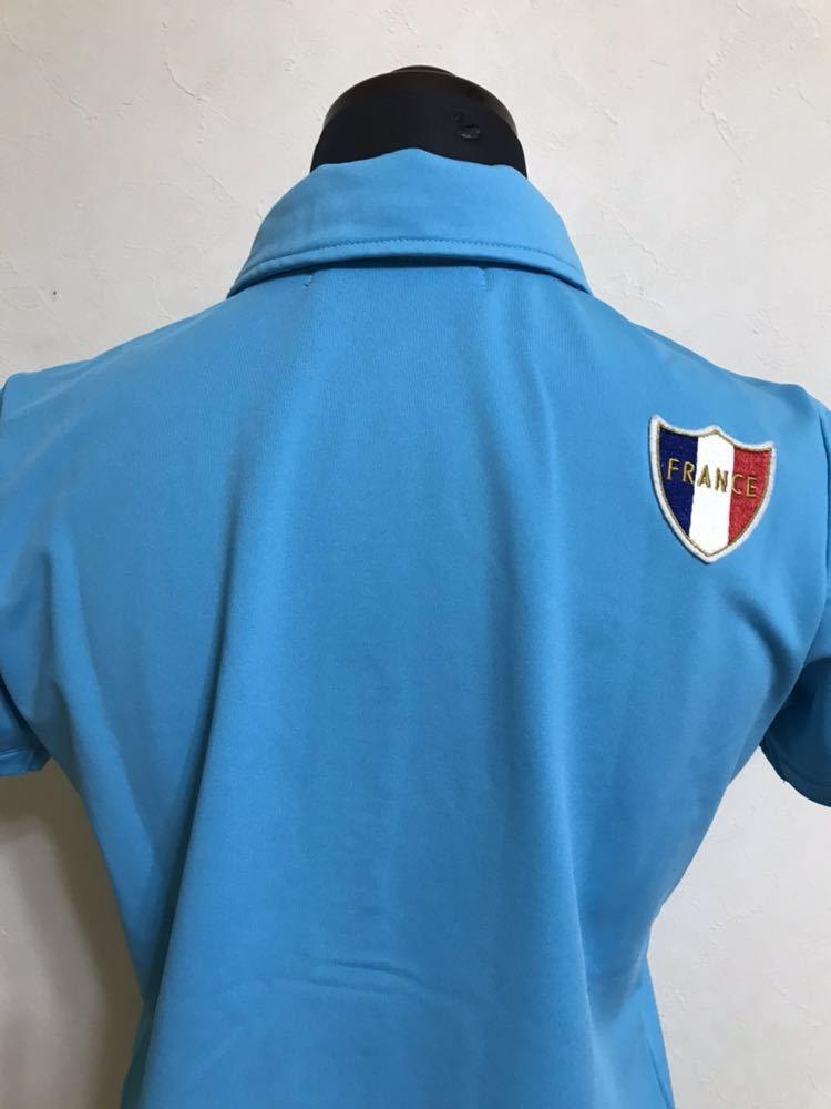 le coq sportif golfルコック レディース ゴルフ ウェア ドライポロシャツ サイズS 半袖 ライトブルー デサントQGL1707_画像4