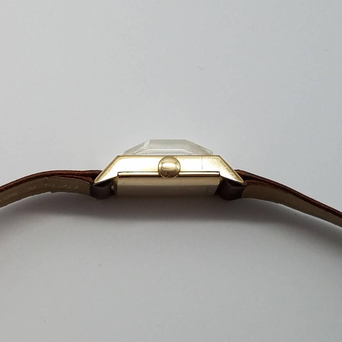 ■最落なし!■ロンジン 1960年代製 宝石のような風防 アールデコ レクタングル 手巻き ビンテージ■LONGINES■実動 動作保証付_画像4