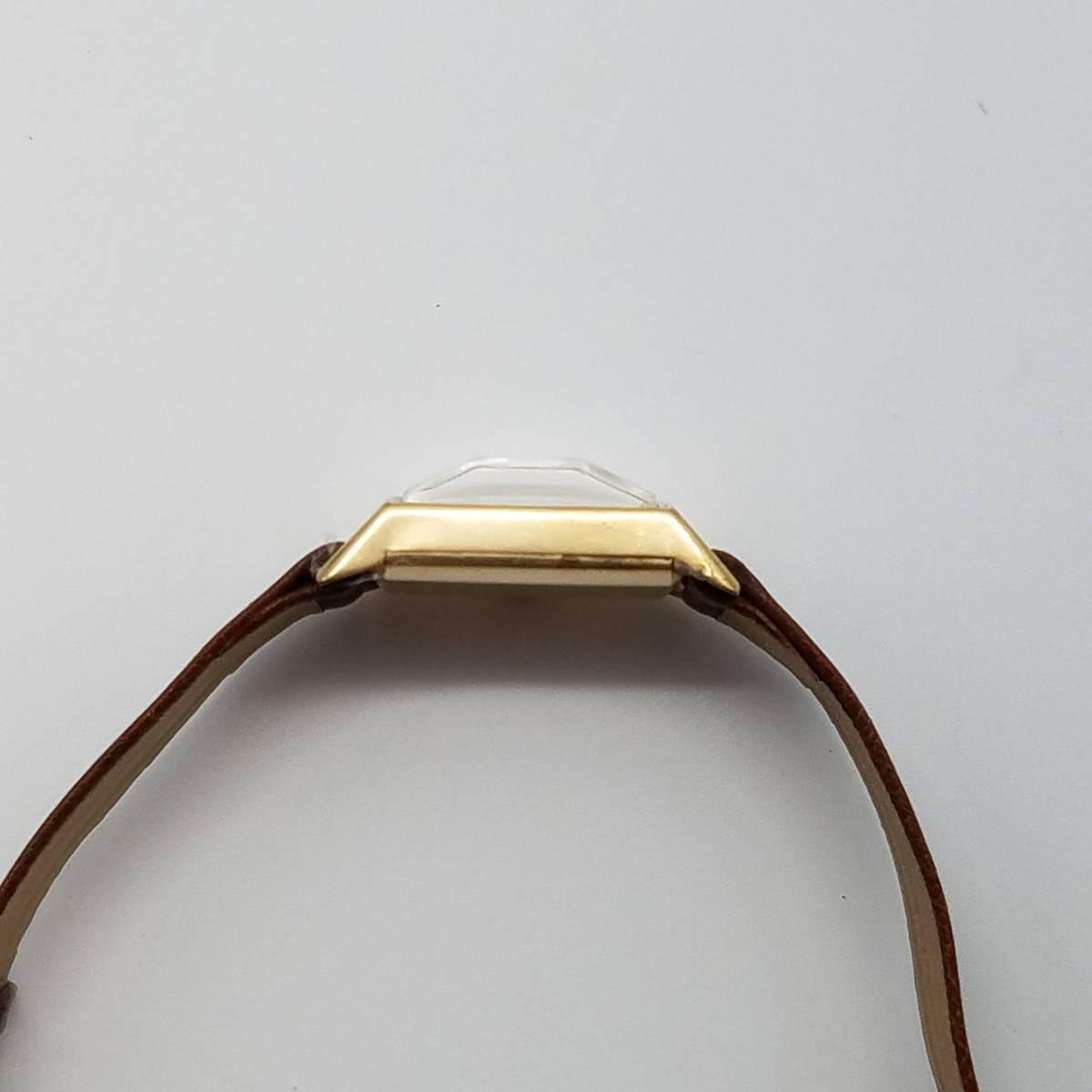 ■最落なし!■ロンジン 1960年代製 宝石のような風防 アールデコ レクタングル 手巻き ビンテージ■LONGINES■実動 動作保証付_画像5