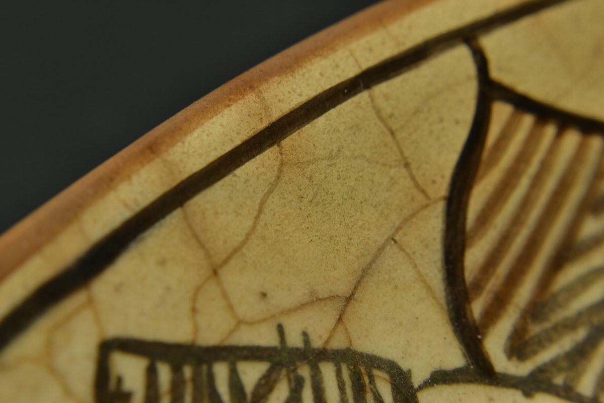 【 ペルシャ陶器 イラン 動物図皿 18世紀頃 】_画像8