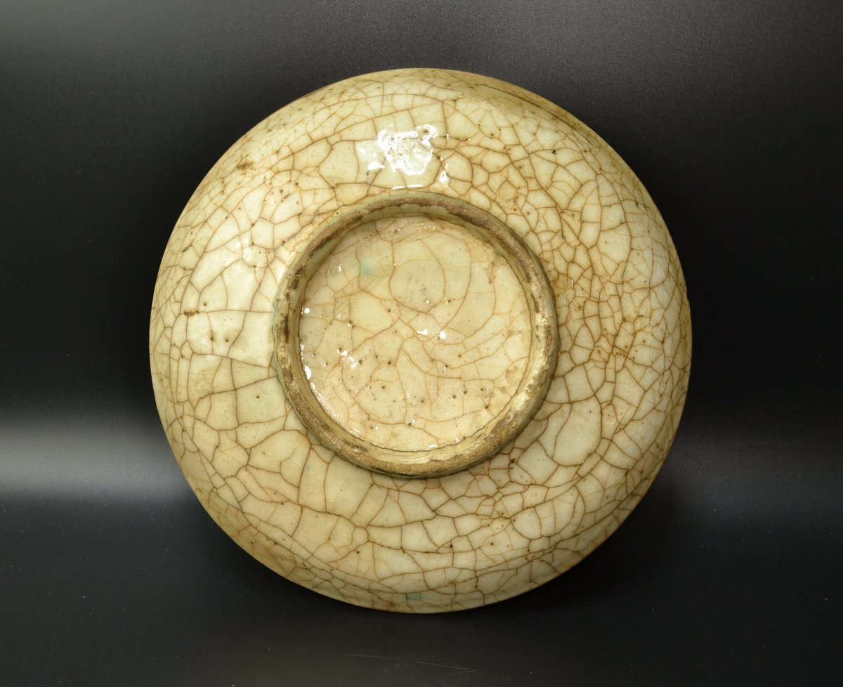 【 ペルシャ陶器 イラン 動物図皿 18世紀頃 】_画像3