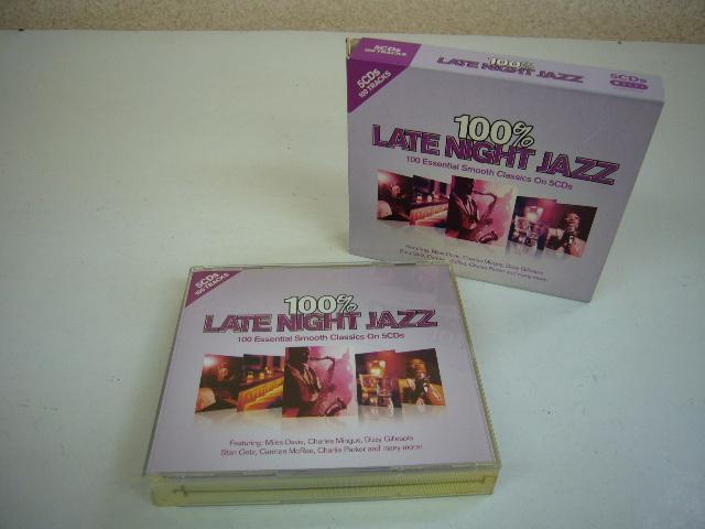 960※中古CD 100% LATE NIGHT JAZZ 5枚組 マイルス・デイビス/渡辺貞夫 など