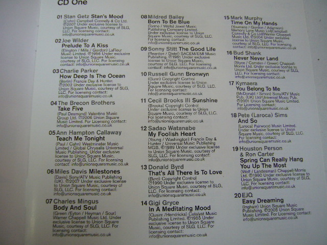 960※中古CD 100% LATE NIGHT JAZZ 5枚組 マイルス・デイビス/渡辺貞夫 など_画像5