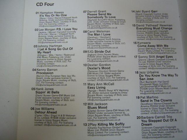960※中古CD 100% LATE NIGHT JAZZ 5枚組 マイルス・デイビス/渡辺貞夫 など_画像8