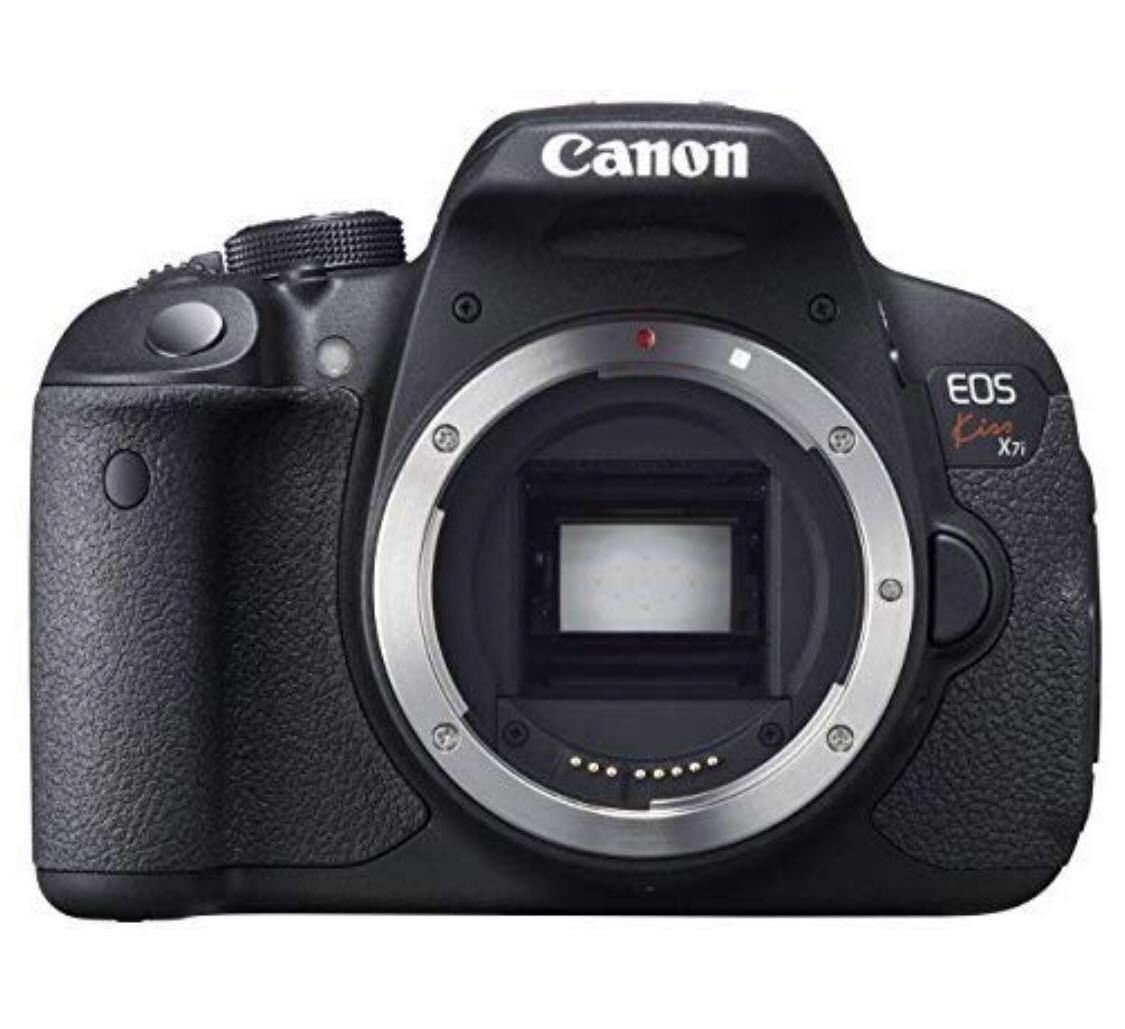 新品未使用品☆激安 大人気Canon デジタル一眼レフカメラ EOS Kiss X7i ボディー KISSX7I-BODY キャノン 黒 拍卖