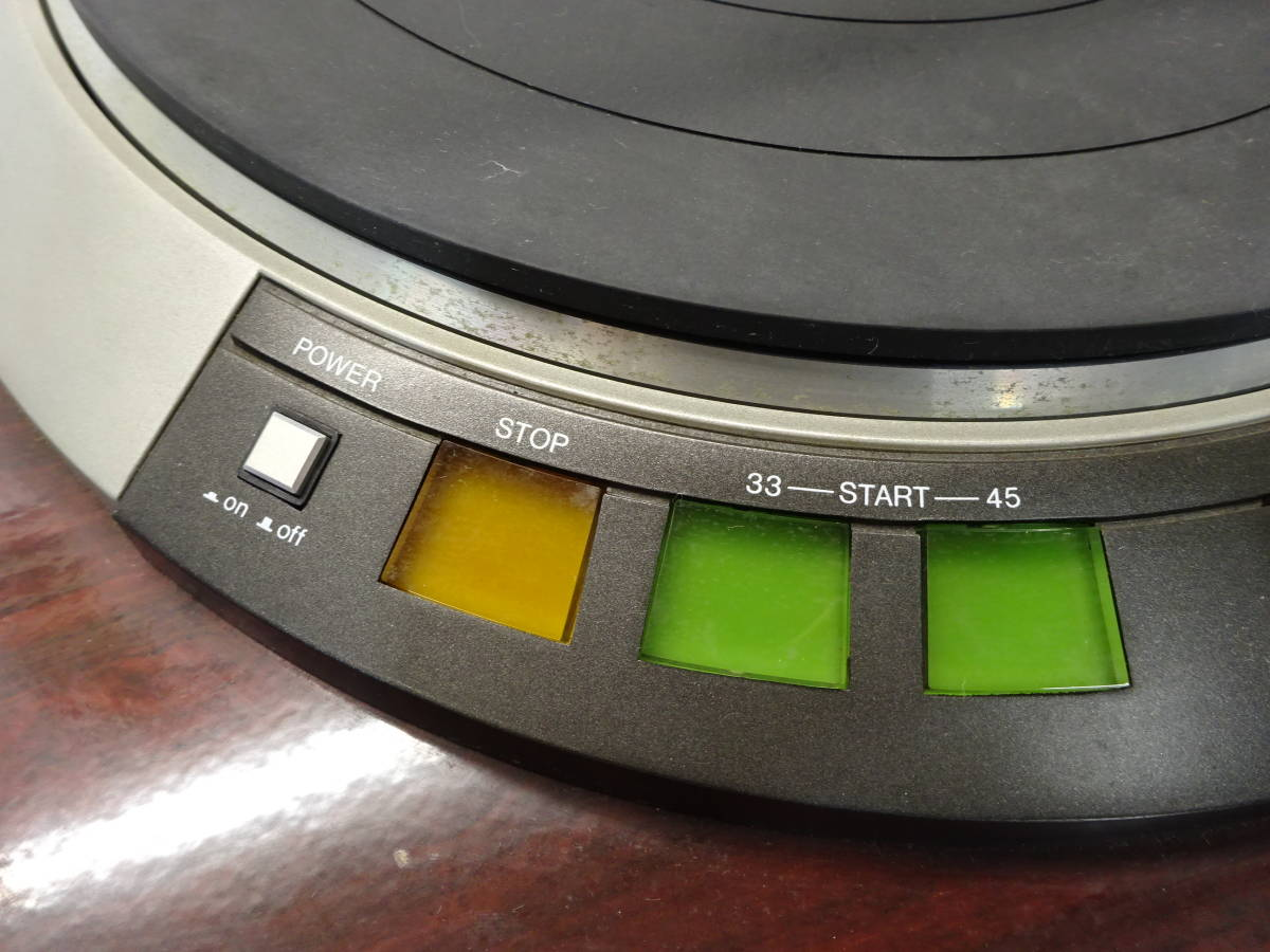 【K51】 DENON デノン レコードプレイヤー DP-57L ターンテーブル 昭和 レトロ ジャンク扱い_画像3