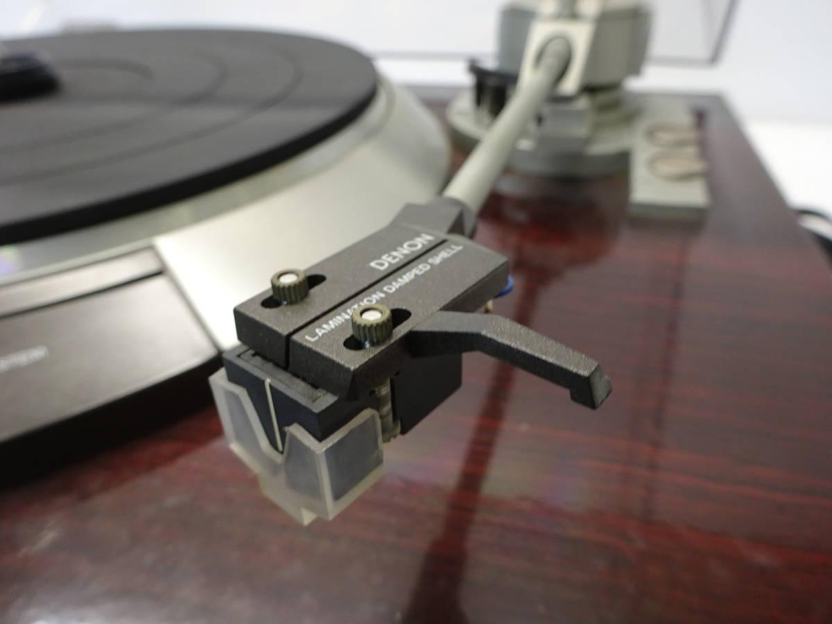 【K51】 DENON デノン レコードプレイヤー DP-57L ターンテーブル 昭和 レトロ ジャンク扱い_画像7
