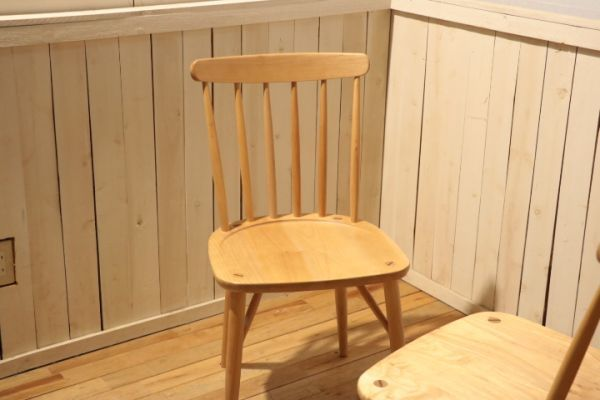 MIKIMOKU◆ミキモク◆楓の森◆メープル無垢材◆ダイニングチェアー◆2脚セット◆ウィンザーチェアー◆ナチュラル◆北欧風◆木製椅子◆(1)_画像6