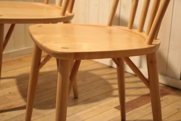 MIKIMOKU◆ミキモク◆楓の森◆メープル無垢材◆ダイニングチェアー◆2脚セット◆ウィンザーチェアー◆ナチュラル◆北欧風◆木製椅子◆(1)_画像7