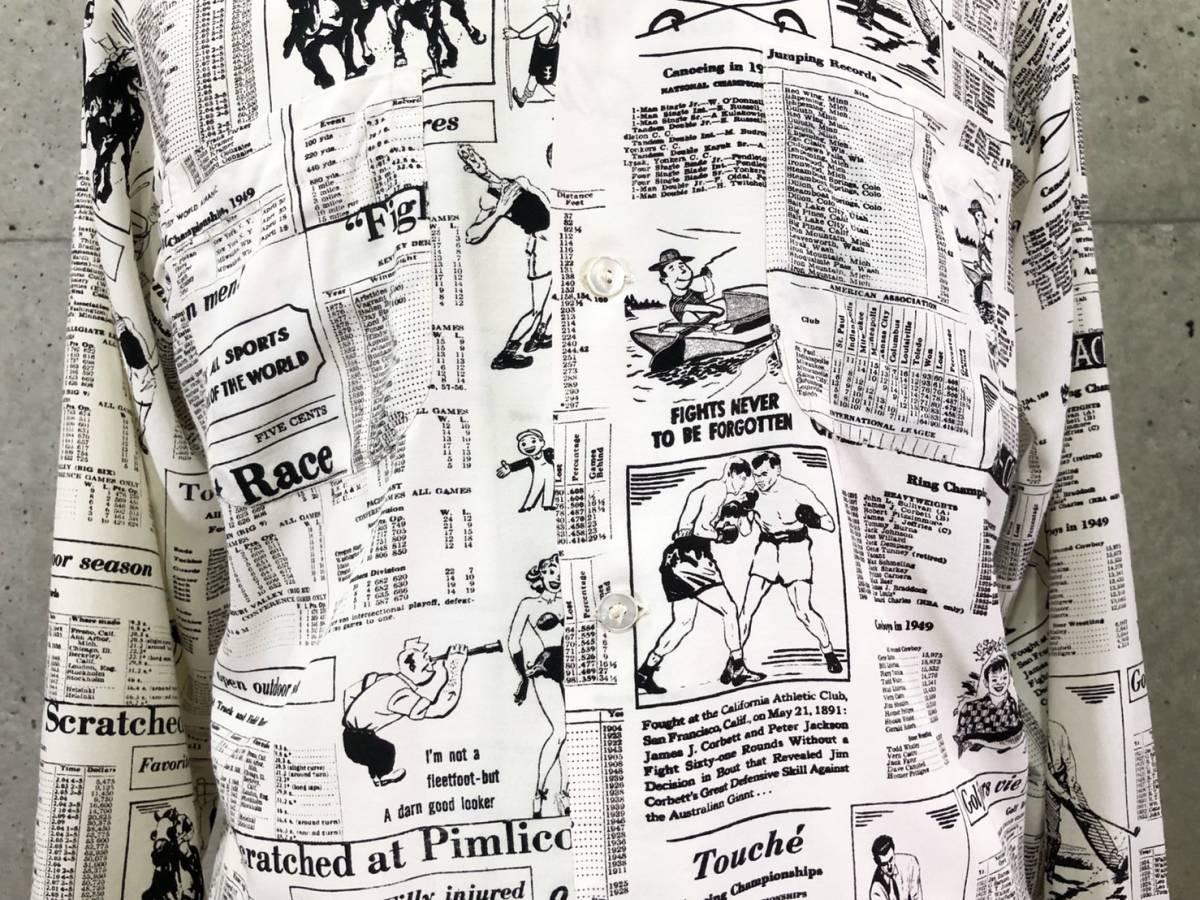 希少 《 Special !! / Newspaper / 1940年代製 》40s 50s 美品【 Enro ビンテージ レーヨン ニュースペーパー シャツ マイフリーダム6 】_画像3