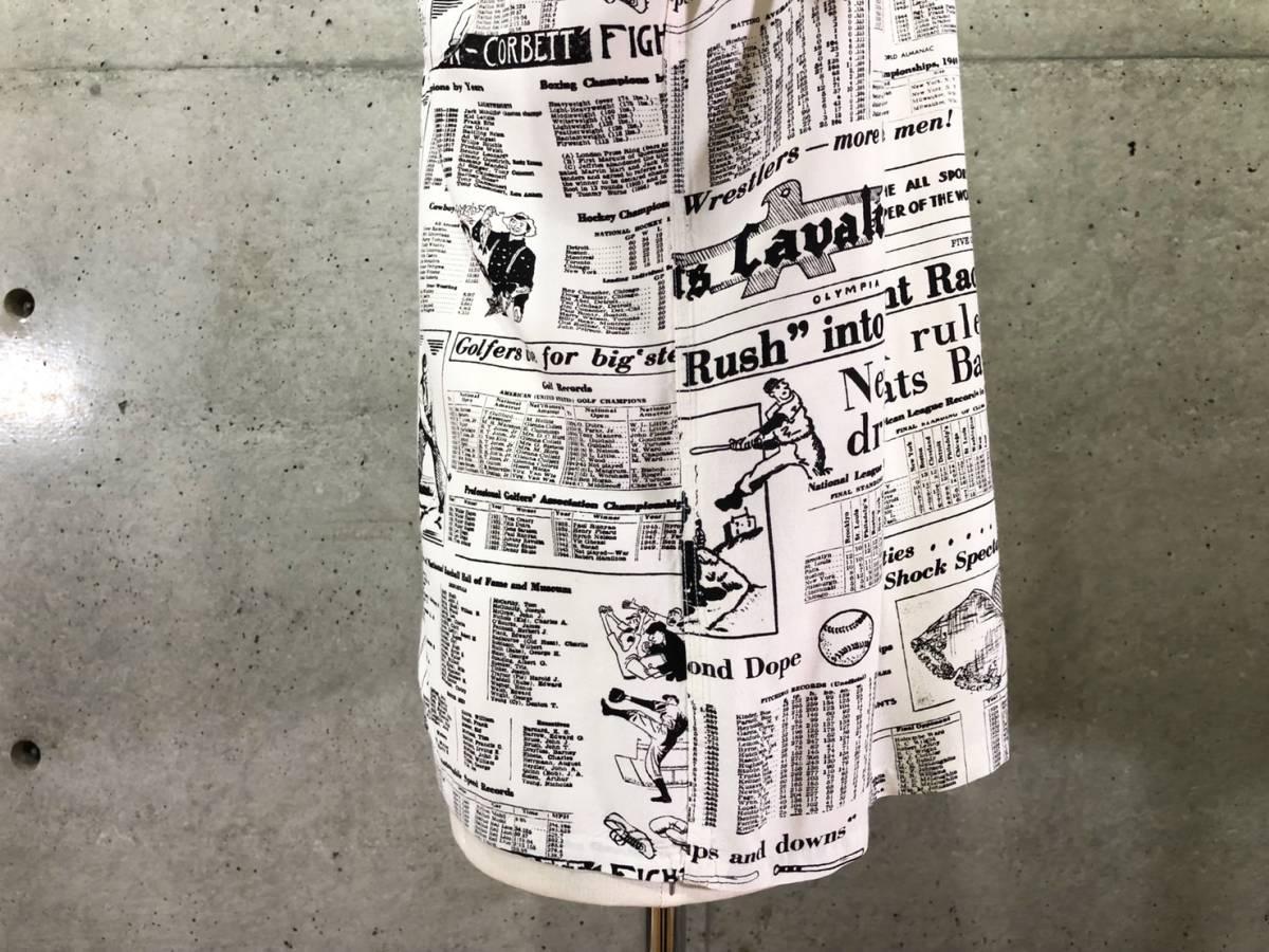 希少 《 Special !! / Newspaper / 1940年代製 》40s 50s 美品【 Enro ビンテージ レーヨン ニュースペーパー シャツ マイフリーダム6 】_画像7